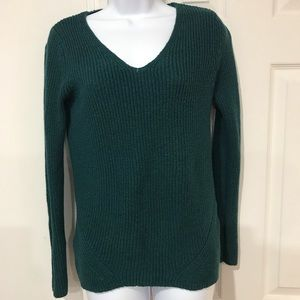 🎀 Old Navy Green Ribbed Sweater Size S